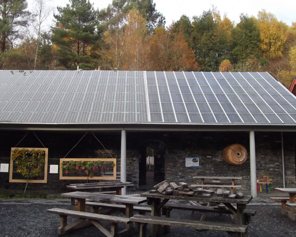centre for alternative technology fruit trees and solar panels