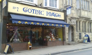gothic image bookshop on Glastonbury High Street