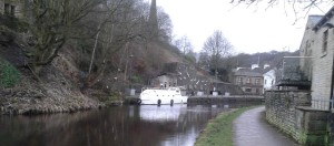 People hang old teapots in trees to encourage robins to nest; the boat on the canal is just strange