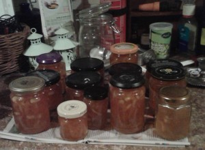 home made marmalade jars