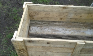 completed raised garden bed