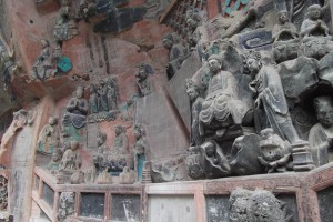 More Buddhist carvings at Dazu