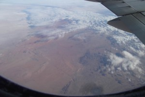 Flying over Gobi desert