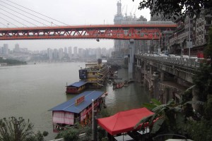 Houseboats on the Yangtze at Chongqing