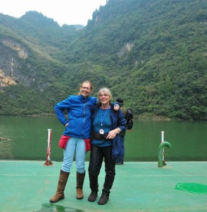 Me and Linda at shennong (courtesy of the ship's photographer)