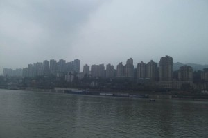 The New York style skyline of Cjongqing, a Chinese megacity on the Yangtze River - adventures of a resilient traveller