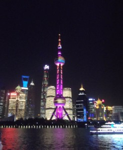 Night lights Shanghai