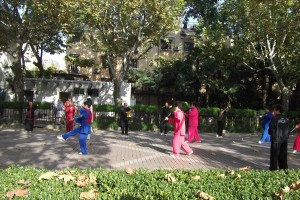 Tai Chi in the French concession Shanghai