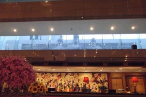 Statues of the Qin Emperor at the Grand Dynasty Culture hotel Xian