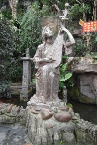 statue at waterfall shrine Chongqing