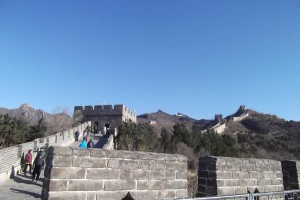 going up the Great Wall of China November 2017