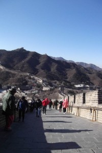 Great wall of China, walking back down