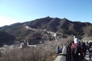 View of the Great Wall of China at Badaling