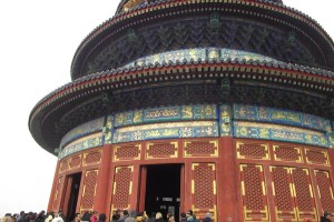 Paintwork on temple of heavenly peace