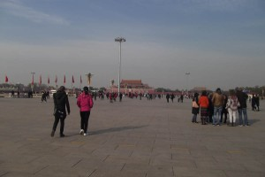 Tiananmen square with forbidden city view