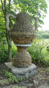 Urn sculpture in May