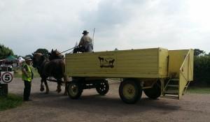 horse bus scythe fair