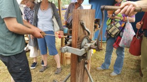 rope machine demonstration at the scythe fair