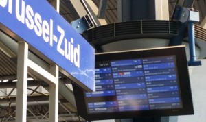 destination board at Brussels Zuid